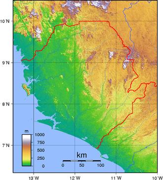 Geography of Sierra Leone - Sierra Leone's topography