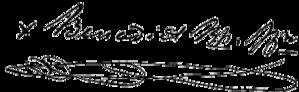 Benedict Joseph Fenwick - Image: Signature of Bishop Benedict Joseph Fenwick