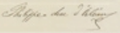 Signature of Prince Philippe of Orléans, Duke of Orléans.png