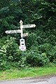 Signpost at the top of the toll road - geograph.org.uk - 1477477.jpg