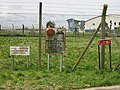Signs on fenced off storage area - geograph.org.uk - 737645.jpg