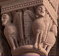 Sigolsheim, romanesque capital, winged creatures.jpg