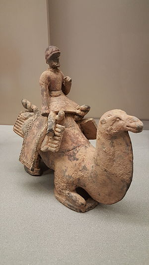 Northern Wei - Model of a Silk Road camel driver, Northern Wei period.