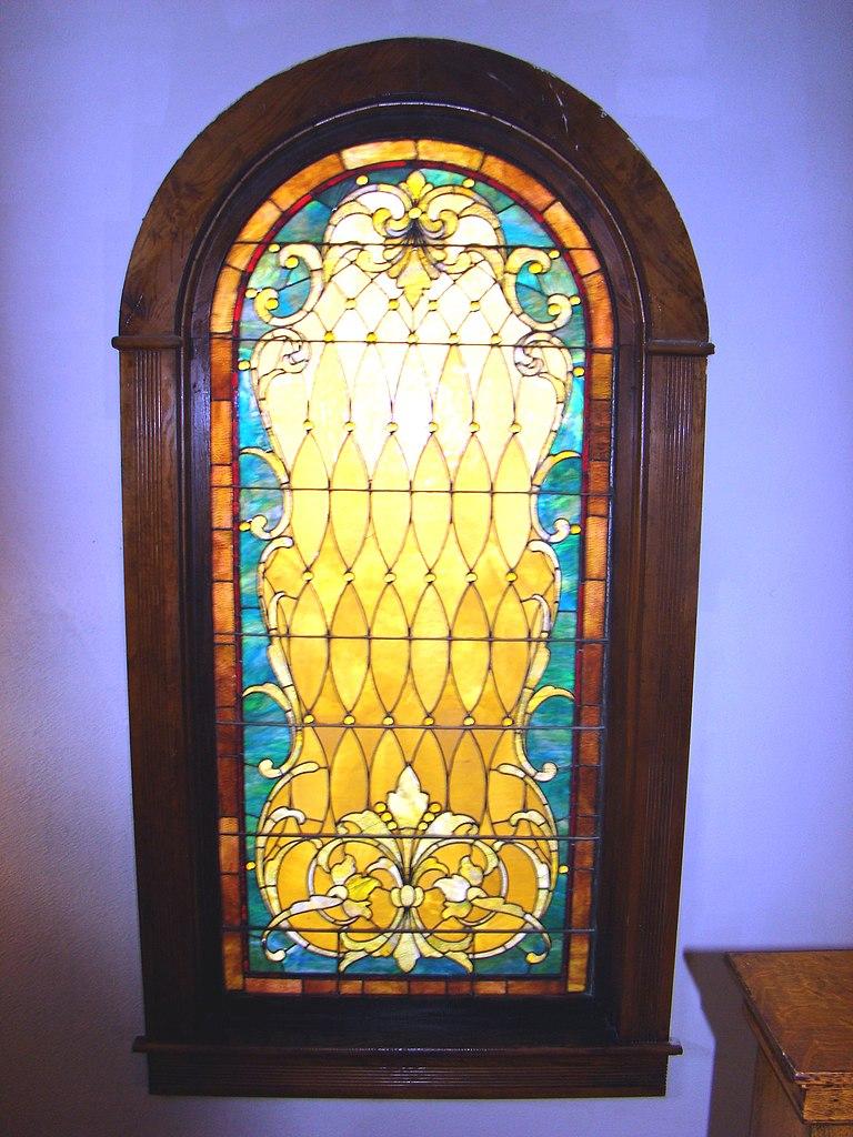 Glass windows house - File Simmons Bond House Stained Glass Window Jpg