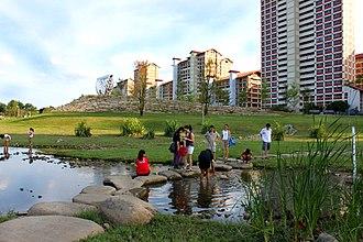 Bishan, Singapore - The Kallang River at Bishan-Ang Mo Kio Park