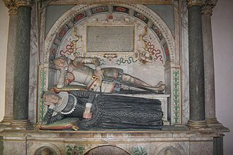 George St Paul - Tomb of Sir George St Paul and his wife, St Laurence church, Snarford, Lincolnshire
