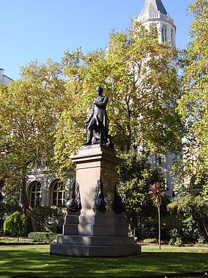 Sir James Outram, 1st Baronet - Statue of Sir James Outram by Matthew Noble, in Whitehall Gardens, London