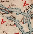Sjøkart over kysten fra Karmøy til Geirangerfjorden fra 1610 (Sogndal).png