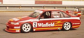 Winfield (cigarette) - Gibson Motorsport Holden Commodore VP of Mark Skaife at Lakeside International Raceway in April 1994