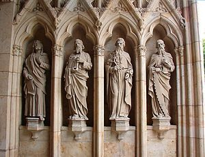 The statues of four prophets; southern porch