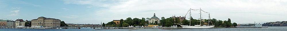 Panorama af Skeppsholmen.