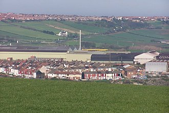 Carlin How - British Steel's Skinningrove Works dominate this view of Carlin How