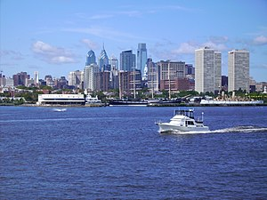 English: Skyline of Philadelphia (Pennsylvania...