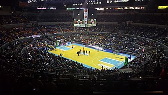 Philippine Basketball Association - Image: Smart Araneta Coliseum Basketball configuration wideshot 2016 (30183917215)