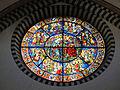 Smn, rosone con vetrata dell'incoronazione, su disegno di andrea bonaiuti, 1365.JPG