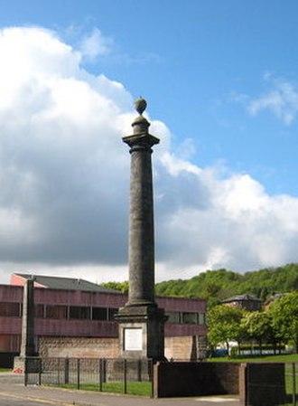 Tobias Smollett - Tobias Smollett Monument in Dunbartonshire