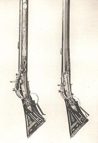 Snaphance - Swedish snaphance guns from the mid 17th century.