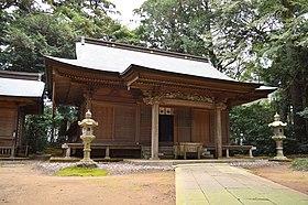 Sobataka-jinja (Okura, Katori) haiden.JPG