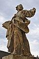 Socha před kostelem, Čechy pod Kosířem, okres Prostějov.jpg