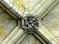 Soissons (02), abbaye Saint-Jean-des-Vignes, cloître gothique, galerie sud, clé de voûte 1.jpg