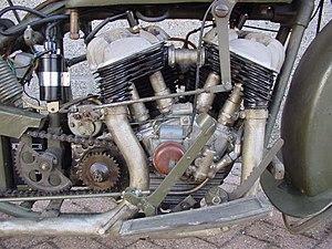V-twin engine - Sokół transversely mounted V-twin.
