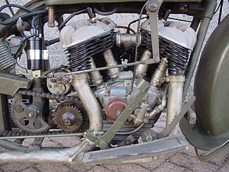 V-twin engine - Sokół transversely mounted V-twin.