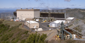 The Geysers - The Sonoma Calpine 3 power plant is one of 22 power plants at The Geysers