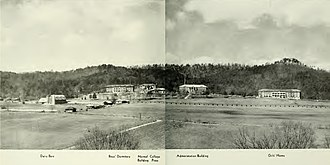 Southern Adventist University - Southern Junior College in 1942 on its site at Collegedale in the Tennessee River Valley