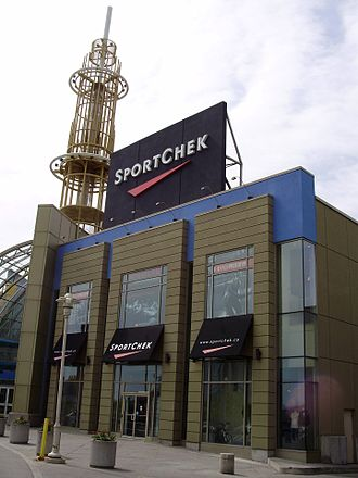 Sport Chek - A Sport Chek store at the Scarborough Town Centre in Scarborough, Ontario. This is now closed and replaced with a Forever 21.