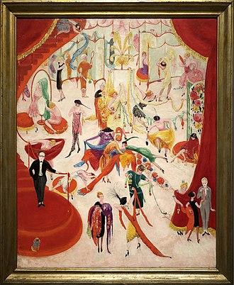 Florine Stettheimer - Spring Sale at Bendel's, 1920, oil on canvas