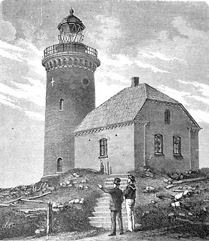Sprogø - Late 19th century depiction of Sprogø Lighthouse.