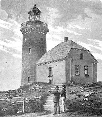 Sprogø - Late 19th century depiction of Sprogø Lighthouse.