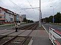 Střelničná, tramvajová trať u zastávky Ládví.jpg
