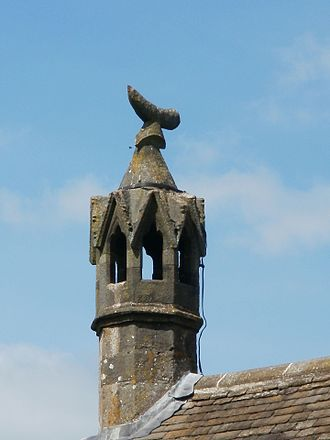"""St Briavels Castle - The famous """"Forest Horn"""" chimney of St Briavels Castle."""