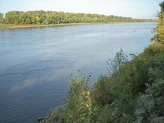 St. Joseph, Missouri - The Missouri River in St. Joseph