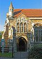 St Mark, Potter's Road, Barnet Vale, Herts - Porch - geograph.org.uk - 377647.jpg
