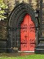 St Matthews Parish Church, Edgeley, Doorway - geograph.org.uk - 1290734.jpg