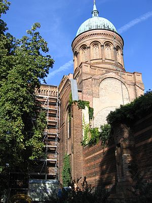 August Soller - St. Michael's Church, Berlin, showing partially restored damage from World War II