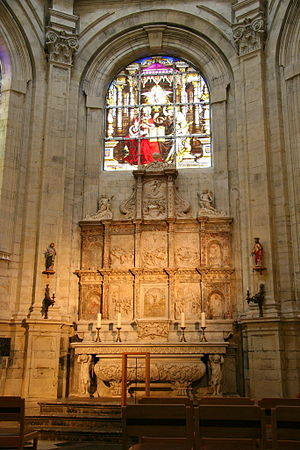 Cathedral of St. Michael and St. Gudula - Marble and alabaster altarpiece by Jean Mone