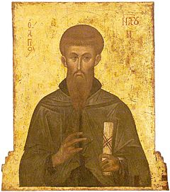 St Naum of Ohrid, Last Quarter of XIV Century, St Mary Perivleptos Church, Ohrid Icon Gallery.jpg
