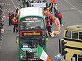 St Patrick's Day Parade 2015 - Digbeth - Chinese Dragon - NXWM buses old and new (16206305323).jpg