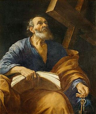 Paolo Emilio Besenzi - Saint Peter. 114 x 135 cm. Oil on canvas. Uffizi Gallery