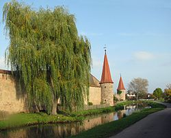 City wall in Merkendorf