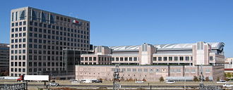 UBS - UBS Investment Bank's former offices in Stamford, Connecticut. At roughly the size of two American football fields, it was the largest column-less trading floor in the world.