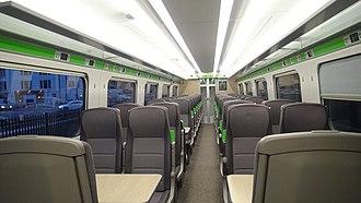 British Rail Class 800 - Image: Standard Class interior of 800009
