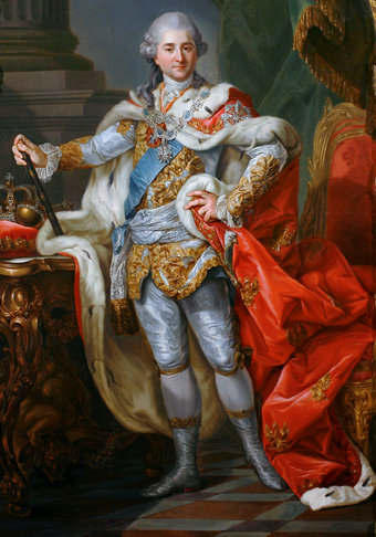 Stanislaw II Augustus, the last King of Poland, ascended to the throne in 1764 and reigned until his abdication on 25 November 1795. Stanislaw II August Poniatowski in coronation clothes.PNG