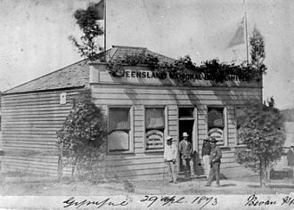 Queensland National Bank, Gympie - The first Queensland National Bank building in Gympie, 1873