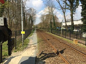 Doetinchem Stadion railway station - The platform of the former station Doetinchem Stadion