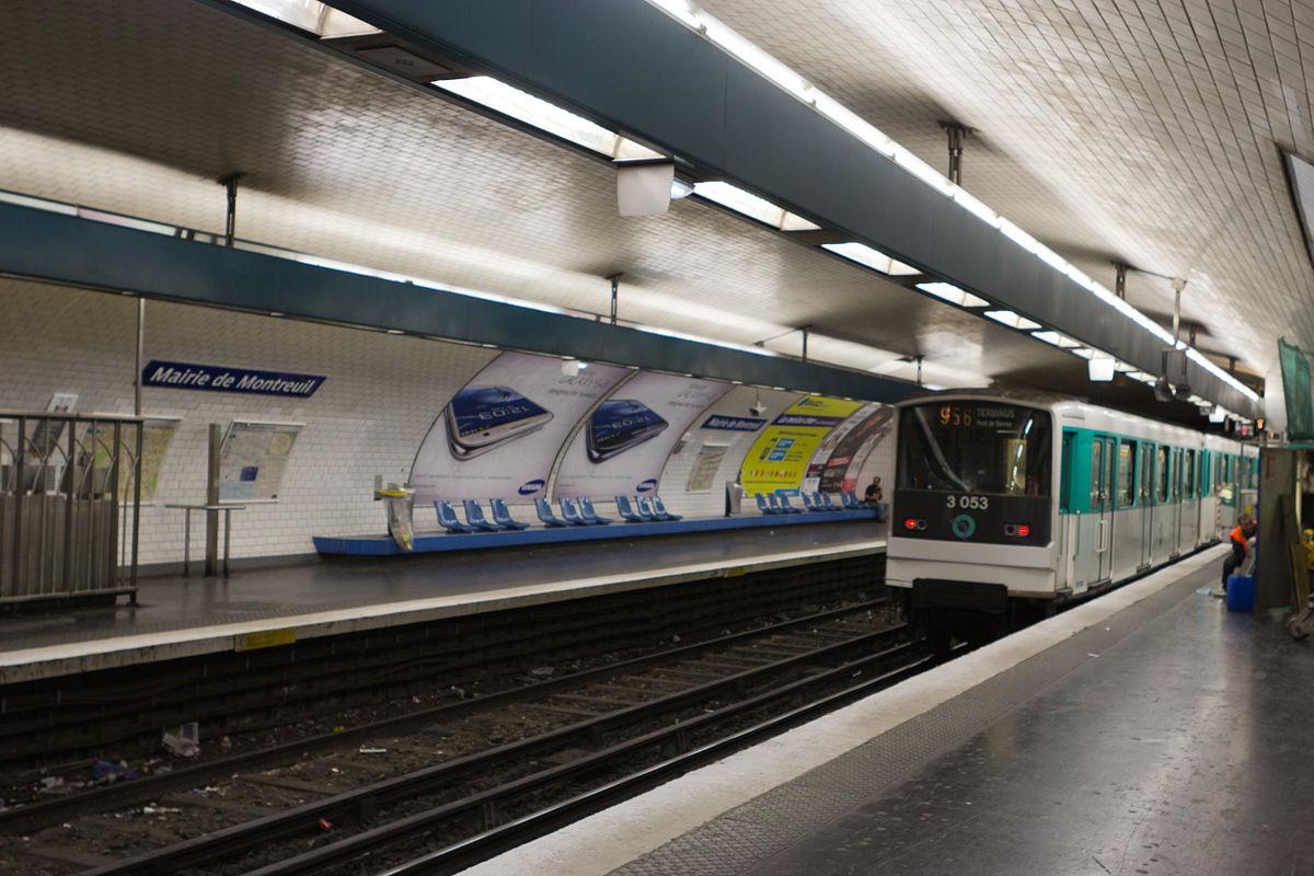 Mairie de montreuil m tro paris wikipedia - Subway porte de montreuil ...