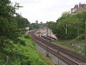 Nijmegen Goffert railway station - Image: Station Nijmegen Goffert in aanbouw 23 mei